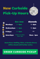 Retail Curbside Pick-Up Hours Winter 2021