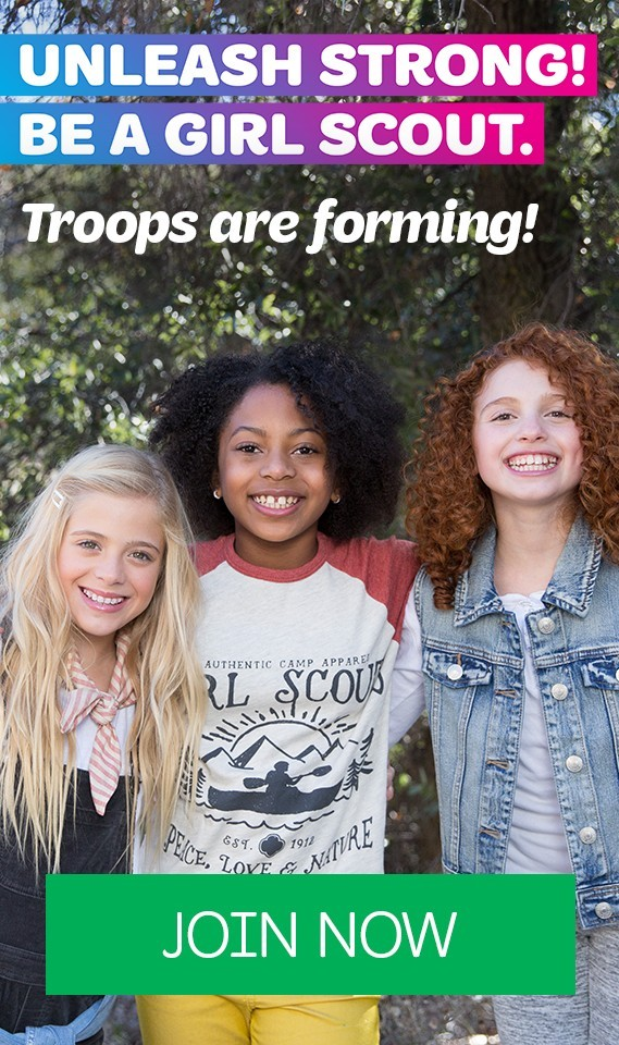 Unleash Strong! Be A Girl Scout!